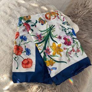 100% Silk Vintage Italian Scarf